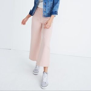 NWT Madewell Sz 29 Cropped Wide Leg Jeans